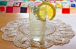 Горячая вода, мята и кусок лимона Стоковые Изображения RF