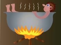 Горячая вода - ванна бесплатная иллюстрация