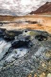 Горячая вулканическая геотермическая область, Исландия Стоковые Фото