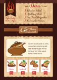 Горячая еда, шаблон меню барбекю иллюстрация штока