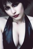 Горячая женщина с сексуальными грудями Стоковое Изображение