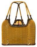 Горячая изолированная гондола плетеной корзины воздушного шара Стоковое Изображение