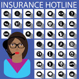 Горячая линия страхования Стоковое Изображение