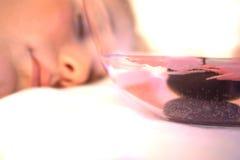 горячая каменная обработка Стоковые Изображения RF