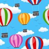 Горячая картина воздушных шаров безшовная иллюстрация штока