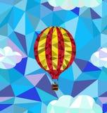 Горячая картина полигона воздушного шара Стоковое Фото