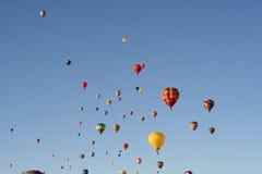 горячая линия небо воздушных шаров Стоковое Фото