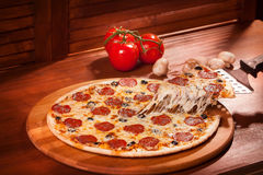 Горячая пицца стоковое фото rf