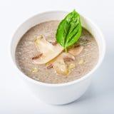 Горячая поставка еды - изолированный суп гриба Стоковые Фотографии RF