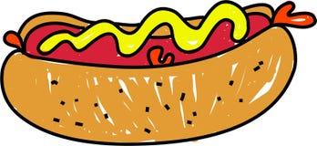 горячая сосиска Стоковое Изображение