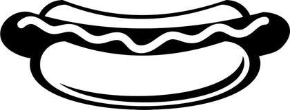 горячая сосиска иллюстрация вектора