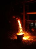 горячая сталь Стоковое Фото