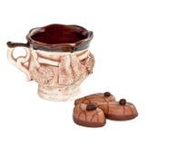 Горячая чашка с конфетой Стоковое Изображение RF
