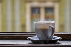 Горячая чашка coffe с паром Стоковое Изображение RF