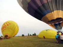 Горячевоздушные воздушные шары, Литва Стоковая Фотография RF