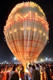Горячевоздушный фестиваль баллона в Taunggyi, Мьянме Стоковые Изображения