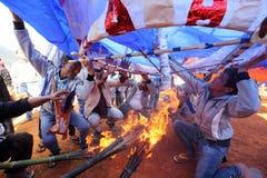 Горячевоздушный фестиваль баллона в Taunggyi, Мьянме ( Burma) Стоковое Изображение RF