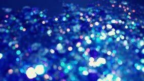 Горячее голубое Bokeh освещает в много различных, ярких, и милых цветов Стоковые Фото