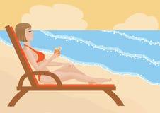 горячее лето Иллюстрация штока