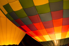 Горячее зарево ночи воздушного шара Стоковая Фотография RF