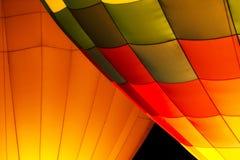 Горячее зарево ночи воздушного шара Стоковое Изображение RF