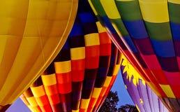 Горячее зарево ночи воздушного шара Стоковое фото RF