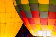 Горячее зарево ночи воздушного шара Стоковые Фото