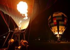 Горячее зарево пламени воздушных шаров Стоковая Фотография