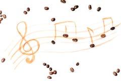 Горячее искусство latte кофе на белой предпосылке стоковое фото