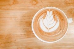 Горячее искусство latte Стоковое Фото