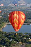 Горячее перемещение полета пилота воздушного шара Стоковое фото RF