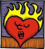 Горячее сердце Стоковая Фотография RF