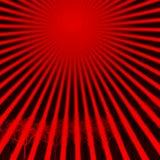 горячее солнце красного цвета лучей Стоковое Изображение