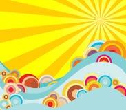 горячее солнце Стоковое Изображение