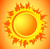горячее солнце Стоковые Изображения