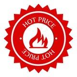 горячее цена ярлыка Стоковое фото RF