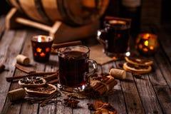 горячее mulled вино стоковая фотография