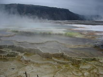 горячие весны yellowstone np mammoth Стоковые Изображения