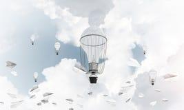 Горячие воздушные шары летая в воздухе Стоковые Изображения RF