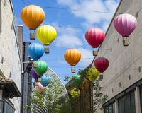 Горячие воздушные шары на цирке Cabot в Бристоле стоковая фотография rf