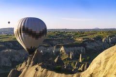 Горячие воздушные шары в Cappadocia, мае 2017 Стоковая Фотография RF