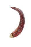 Горячие высушенные красные перцы изолированными на белой предпосылке Стоковая Фотография RF