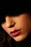 горячие губы стоковая фотография rf