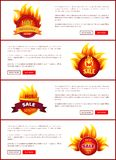 Горячие значки и ярлыки продажи со скидками Promo иллюстрация штока