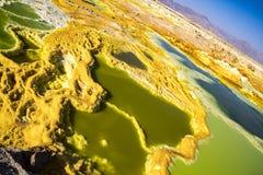 Горячие источники в Dallol, пустыне Danakil, Эфиопии Стоковые Изображения RF
