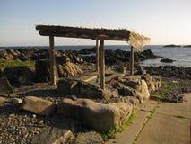 Горячие источники на пляже Стоковое Фото