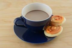 Горячие какао и печенья стоковое изображение rf