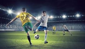 Горячие моменты футбола Стоковое Изображение