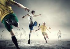 Горячие моменты футбола Стоковая Фотография