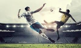 Горячие моменты футбола Стоковые Изображения RF